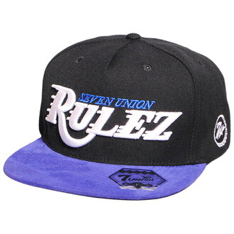 Rulez Snapback Cap 스냅 백 캡/블랙×블루(세븐 유니온 캡) ( 7 UNION 캡)