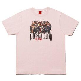 NINE RULAZ LINE ナインルーラーズ The Festival Artist Tee 半袖 Tシャツ NRAW17-002 ピンク