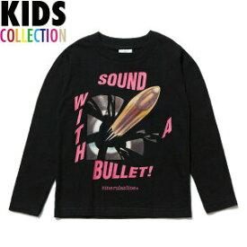 NINE RULAZ LINE キッズ ナインルーラーズ Kid's Sound Bullet L/S Tee 長袖 Tシャツ ロンT 子供服 NRKAW17-007 ブラック
