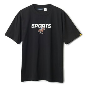 INTERBREED インターブリード ACTIVE SERVICE Disney × Interbreed Minnie Sports SS Tee 半袖 Tシャツ TEIJIN ブラック