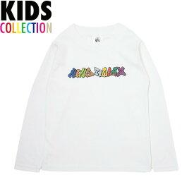 NINE RULAZ LINE キッズ ナインルーラーズ Kid's Graffiti Logo L/S Tee 長袖 Tシャツ ロンT 子供服 NRKAW17-004 ホワイト