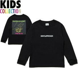 NINE RULAZ LINE キッズ ナインルーラーズ Kid's Nah Surrenda L/S Tee 長袖 Tシャツ ロンT 子供服 NRKAW17-006 ブラック
