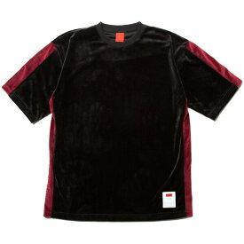 ナインルーラーズ Tシャツ 半袖 ベロア セットアップ NINE RULAZ Velour Tee NRSS18-026 ブラック