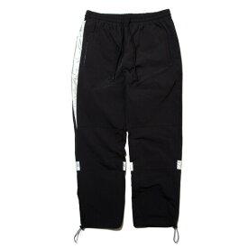ナインルーラーズ パンツ メンズ レディース 送料無料 NINE RULAZ LINE Nylon Track Pants ナイロン トラックパンツ ストリート レゲエ ブランド M-XXL ブラック NRAW19-002