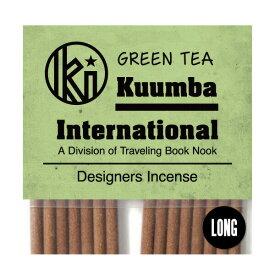 クンバ お香 清涼感がありリラックスする香り 15本入り レギュラーサイズ Green Tea インセンス KUUMBA