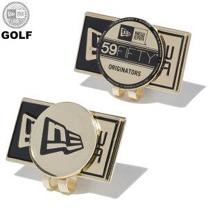 ニューエラ ゴルフ メンズ レディース NEW ERA ベーシックマーカー ボールマーカー ニューエラボックスロゴ ニューエラフラッグロゴ バイザーステッカー ゴールド ワンサイズ 12336596 12336597