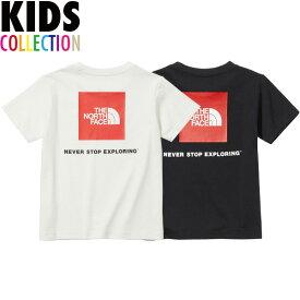 ノースフェイス キッズ tシャツ 送料無料 THE NORTH FACE ショートスリーブスクエアロゴティー Kids S/S Square Logo Tee Tシャツ UVケア 男の子 女の子 アウトドア キャンプ カジュアル 誕生日 ギフト プレゼント おしゃれ 全3色 100-150サイズ NTJ32142