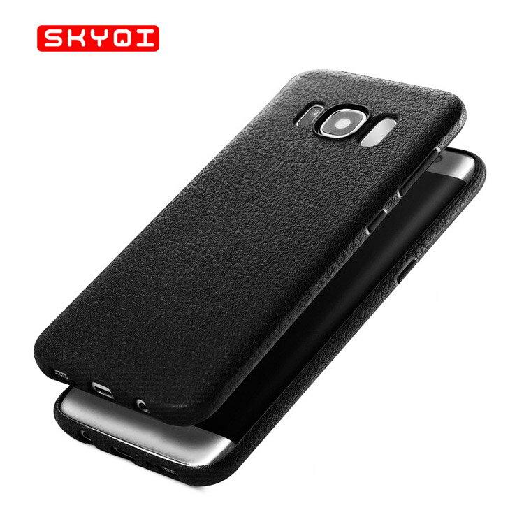 Samsung Galaxy S8 ケース 耐衝撃 TPU レザー調 カバー 薄型/スリム ギャラクシーS8用 背面カバー SC-02J docomo SCV36 au