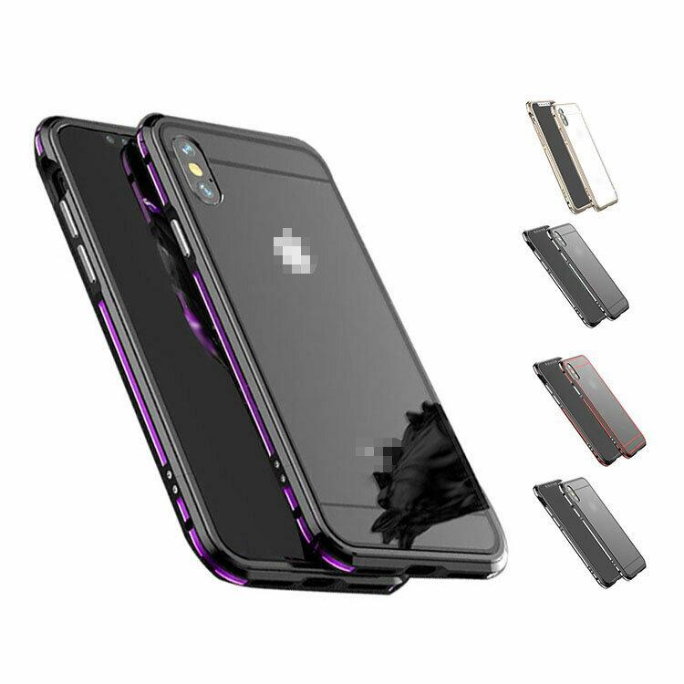 apple iphone X アルミバンパー ケース/カバー 背面 クリア カバー付き 際立つエッジ 金属アルミ かっこいい アイフォンX メタルサイドバンパー アップル おすすめ おしゃれ スマホケース/カバー