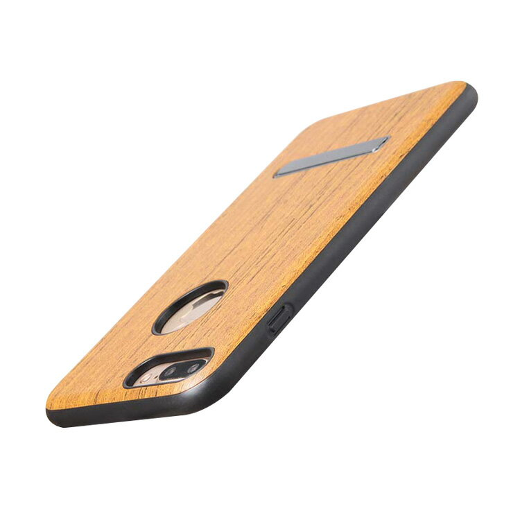 iPhone7 Plus ケース ウッド調 木目 TPU 耐衝撃 スタンド アイフォン7プラス 耐衝撃ソフトカバー