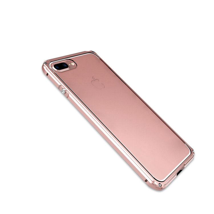 Apple iPhone8 Plus /iPhone7 plus アルミバンパー クリア バックパネル付き 2重構造 かっこいい アイフォン8プラス/7プラス メタルケース