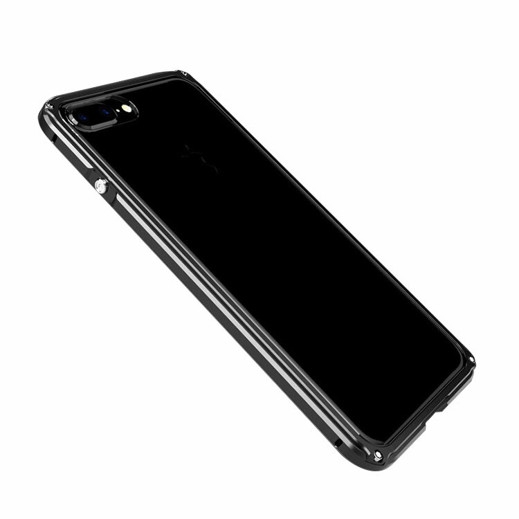 Apple iPhone8 Plus /iPhone7 plus アルミバンパー クリア バックパネル付き 航空アルミケース かっこいい アイフォン8プラス/7プラス アルミケース