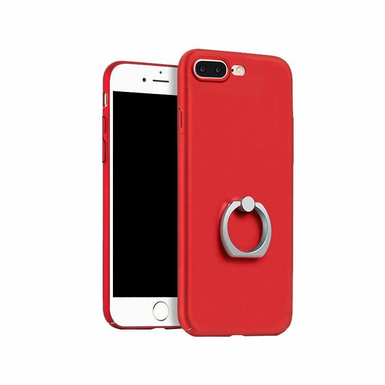 Apple iPhone8 Plus /iPhone7 plus ケース スマホリング メタル調 アイフォン8プラス/7プラス ハードケース
