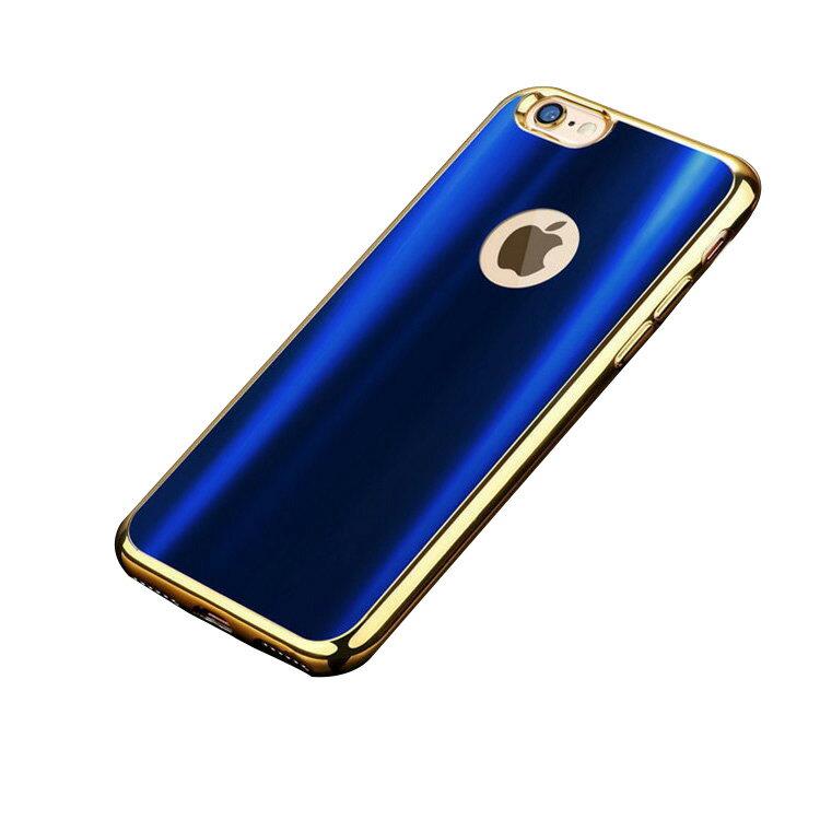 iPhone7 Plus ケース TPU 耐衝撃 メタル調背面カバー アイフォン 7 プラス ソフトケース