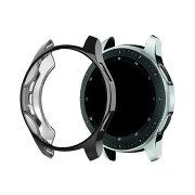 SamsungGalaxyWatchケース/カバーメッキ46mm/42mmTPUメタル調鏡面加工ギャラクシーウォッチソフトカバー