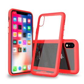 Apple iPhone XR ケース/カバー TPU バンパー 背面強化ガラス 背面パネル付き かっこいい アイフォンXR ソフトケース & ハードケース 2重構造 ハイブリット素材 アップル おすすめ おしゃれ スマフォ スマホ スマートフォンケース/カバー