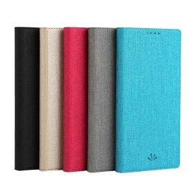 Sony Xperia 10/10 Plus ケース/カバー 手帳型 レザー スタンド機能 キャンパス調 カード収納 上質なPUレザー シンプル エクスペリア 10/10 プラス手帳型カバー アンドロイド おすすめ おしゃれ スマフォ スマホ スマートフォンケース/カバー