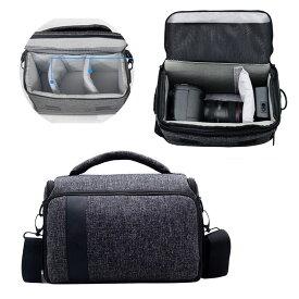 CANON EOS R5/R6 一眼レフ カメラバッグ メンズ カメラバッグ ショルダー 手提げ ショルダー・ベルト取り付け 対応 一眼・レンズ収納対応 カメラケース カメラバック ベルトループ内蔵 一眼レフカメラバッグ