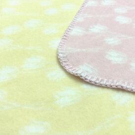 ベビー綿毛布 日本製 チューリップ柄の blan&co.オリジナル 洗える 送料無料 工場直販 産地直送 保育園 幼稚園にも♪