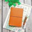 トラベラーズノート「パスポートサイズ」をおしゃれな本革カバーでカスタマイズ!6色からお選びいただけます♪