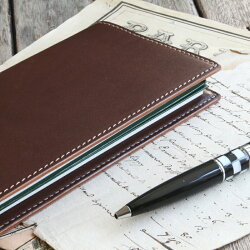 本革手帳カバー「測量野帳」専用サイズカバー2冊収納/国産フルタンニンドレザー