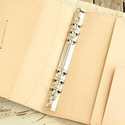 システム手帳革A519mmリング/国産フルタンニンドレザー/システム手帳バインダーA5サイズ