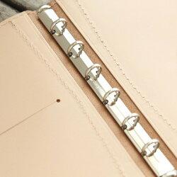 システム手帳「ミニ6穴ポケットサイズ」本革8mmリングスリム/国産フルタンニンドレザー