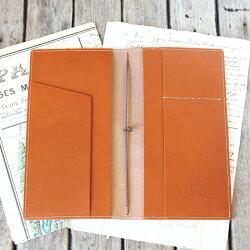 トラベラーズノートカバー(レギュラーサイズ)/パスポートケース/国産フルタンニンドレザー