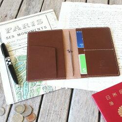 トラベラーズノートカバー(パスポートサイズ用)/パスポートケース/国産フルタンニンドレザー