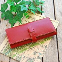 ■■【丈夫なヌメ厚革ハンドメイド長財布】■■☆お好きな色でお作りします☆