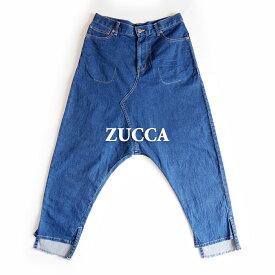 【USED】ZUCCA ズッカ/ライトストレッチデニムサルエルパンツ/ジーンズ/サイズ M