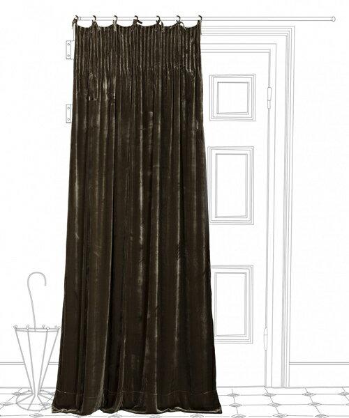 シルクヴェロアカーテン・イスタンブール・アテリエ W110xH300 お直し代込 / カーテン ドレープ ベロア ベルベット