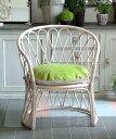 Blanc d'Ivoire フォトイユ・サン・バースPM/チェア ソファ アンティーク ラタン 籐椅子 メッシュ フランス インテリア ブランディボワ…
