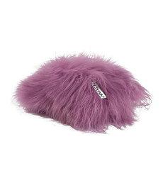 Dyreskinn シープスキンクッション・アイスランディック・ダークピンク/シープスキン 羊毛 クッション ウール 35×35
