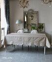 LA GALLINA MATTA オイルクロステーブルクロス・マロングラッセ170x270/テーブルクロス 撥水 クロス かわいい 北欧 プレイスマット イ…
