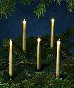 SIRIUS キャロリン・LEDキャンドルH15cm・ゴールド10p set /シリウス キャンドル ろうそく 北欧 オーナメント クリスマス Christ…