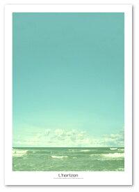 A2サイズポスター 【Horizon-a】 インテリア アート 海 フォトポスター Interior Art Poster