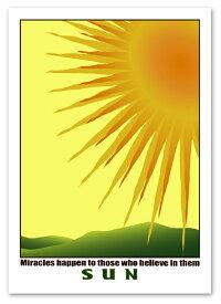 ポスター【Sun】 A3サイズ 太陽 風景 景色 アート インテリア Interior Art Poster
