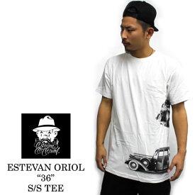 """ESTEVAN ORIOL/エステヴァンオリオール """"36 """" S/S TEE / 半袖Tシャツ ホワイトTシャツ メンズ 半袖 クルーネックレディーフォト プリント デザイン デザインTシャツ メンズTシャツ 半袖Tシャツ プリントTシャツ デザインTシャツ メンズファッション"""