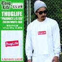 待望の再入荷!!THUG LIFE サグライフ 長袖Tシャツ メンズ THUG PRODUCT TEE / 白×赤 ホワイト レッド ボックスロゴ…