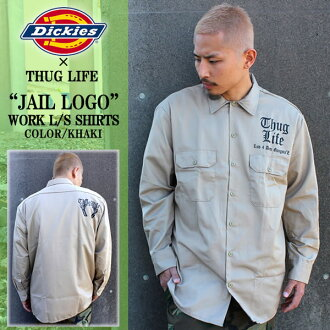 THUG LIFE and thug life long sleeve shirt THUG JAIL SHIRTS and khaki Dickies... deckers... Dickies... custom... work... military... Setup... top and bottom set... Street... LA. 2Pac... new... popular
