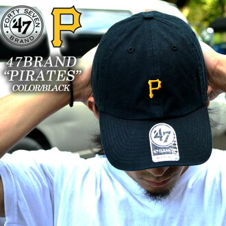 ca07e2aad52 47 BRAND fourteen seven brand MLB PITTSBURGH PIRATES pirates CLEAN UP black  cleanup Cap cap Cap Hat basketball sports men s women s fashion skater  Street ...