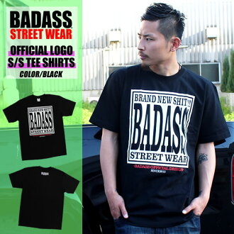 Original BADASS STREET WEAR Bodas official T shirt BADASS OFFICIAL TEE / black... box logo... new... popular... limited... Street. skating. collaboration. double name