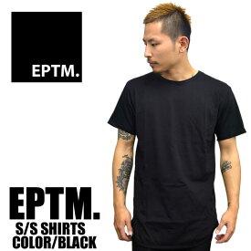 EPTM エピトミ 半袖Tシャツ ロング丈 無地 ラウンド型 メンズ ブラック薄手 ロング丈 カニエウエスト着用 アメリカンユース メンズファッション インナー あす楽