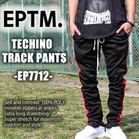 EPTM TECHNO TRACK PANTS エピトミ スキニー ジャージ トラックパンツ ブラック レッド EP7712スケーター スポーツ トレーニング ジャージ 柔らかい あす楽 即納 格安