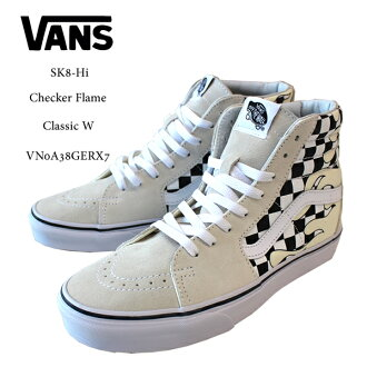 d1b2d7420b0 US-limited VANS vans sneakers SK8-Hi checker frame OLD SKOOL Checker Flame  Classic VN0A38GERX7 men skater street casual shoes シューズスケシュー
