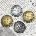 メタル ボタン コイン風 コンチョ BLAZE