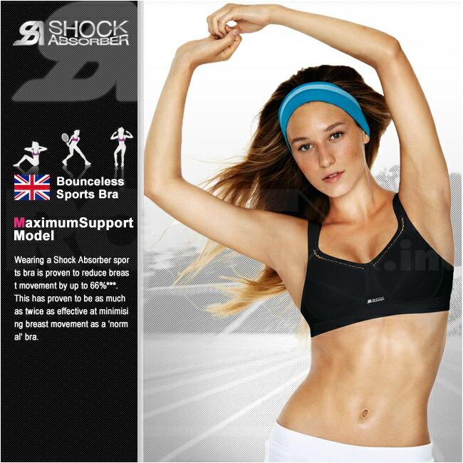 スポーツブラ SHOCKABSORBER (ショックアブソーバー) クラッシックサポート CLASSIC SUPPORT 大きいサイズも充実の揺れないスポーツブラ ノンワイヤー