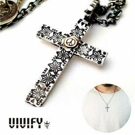 【VIVIFY 正規店】VIVIFY ビビファイ クロスネックレス 十字架 シルバーCross Necklace/麻の葉(魔除け)、Peacemark受注生産