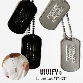【VIVIFY 正規店】VIVIFY ビビファイ ドッグタグ ネックレス プレート4L Dog Tag 受注生産